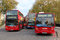 Stock Image : Red London buses near  Marble Arch
