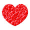 Stock Image : Red love hearts in a heart