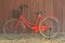 Stock Image : Red old bike at home.
