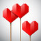 Stock Image : Red paper hearts