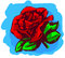Stock Image : Red rose