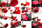 Stock Image : Red rose collage