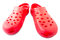 Stock Image : Red rubber shoes