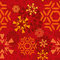 Stock Image : Red Snowflakes Pattern
