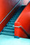Stock Image : Red stairs.