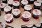 Stock Image : Red velvet cupcakes