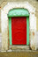 Stock Image : Red wooden door