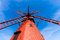 Stock Image : Red wooden windmill