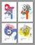Stock Image :  Reeks Lay-outmalplaatjes voor Vlieger of Brochure