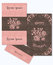 Stock Image :  Reeks van groetkaarten en envelop in een luxueuze uitstekende stijl