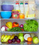 Stock Image : Refrigerator full of healthy food