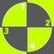 Stock Image : Registration mark inspired infogrpahic design