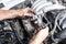 Stock Image : Repair car