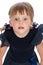 Stock Image :  Retrato de una pequeña muchacha sorprendida