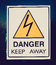 Stock Image : Retro look Danger keep away