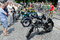 Stock Image : Retro motorcycles close-up on display outdoors in Lvov