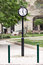 Stock Image : Retro vintage column clock at street