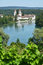 Stock Image : Rheinau Abbey across Rhine, Switzerland