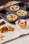 Stock Image : Rhubarb crumble tarts