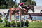 Stock Image : Rider Jumps Horse At Horse Show