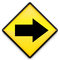 Stock Image : Right Arrow on Yellow Sign