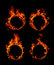 Stock Image : Ring of fire collection