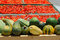 Stock Image : Ripe pumpkins, gourds and dried tomatoes