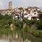 Stock Image : River Sarine through Fribourg