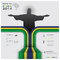 Stock Image : Road To Brazil 2014 Football Tournament Sport Infographic