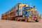 Stock Image : Road train in the Australian outback
