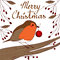 Stock Image : Robin With Red Bauble