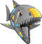 Stock Image : Robot Cyborg Shark Vector