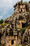 Stock Image : Rock cut tombs of Myra and sky
