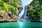 Stock Image : Rocks and sea in Krabi Thsiland