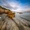 Stock Image : Rocky Beach and Transparent Adriatic Sea near Omis