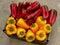 Stock Image :  Rode en gele peper