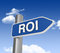Stock Image : ROI Directional Sign