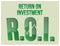 Stock Image : ROI Return On Investment words