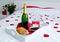 Stock Image : Romantic champagne breakfast