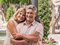 Stock Image : Romantic smiling mature healthy romantic middle-aged couple