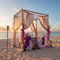 Stock Image : Romantic Wedding Table on Tropical Caribbean Beach