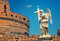 Stock Image : Rome - Angel and SantAngelo Castle