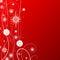 Stock Image :  rood Kerstmisthema