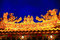 Stock Image : Rooftop decoration of Temple in Taiwan at Night