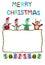 Stock Image : Rope border christmas card made frpm plasticine