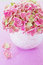 Stock Image :  Rosafarbene Hydrangeablumen