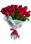 Stock Image : Rose flowers bouquet isolated