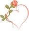 Stock Image : Rose heart frame