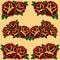 Stock Image : Roses frame