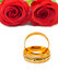 Stock Image : Roses and wedding rings